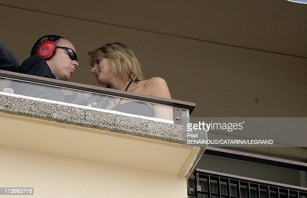 Charlene Wittstock at the Formula One Grand Prix of Monaco in Cannes France on May 28 2006Prince Albert of Monaco and Charlene Wittstock