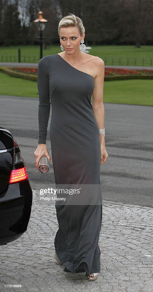Charlene Wittstock attends a State Dinner at Aras an Uachtarain, the official residence of the President of Ireland during the Prince Albert II Of Monaco State visit on April 4, 2011 in Dublin, Ireland.