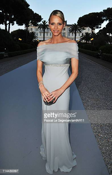 Charlene Wittstock attends amfAR's Cinema Against AIDS Gala during the 64th Annual Cannes Film Festival at Hotel Du Cap on May 19 2011 in Antibes...