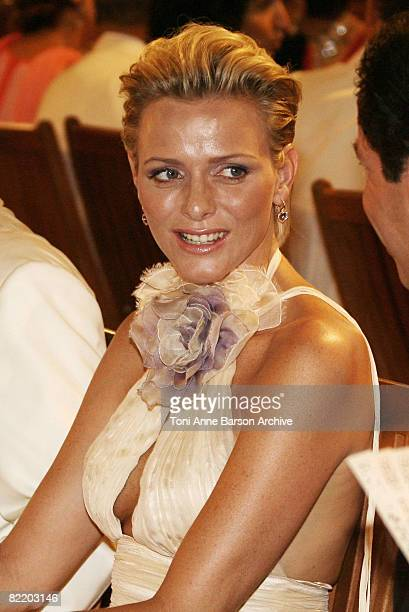 Charlene Wittstock attends at the 60th Monaco Red Cross Ball at the Monte-Carlo Sporting Club on August 1, 2008 in Monte Carlo, Monaco.