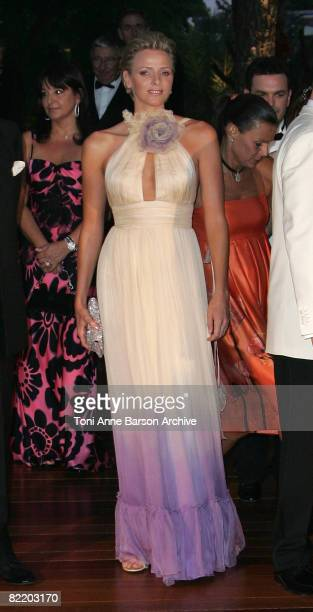Charlene Wittstock attends the 60th Monaco Red Cross Ball at the Monte Carlo Sporting Club on August 1 2008 in Monte Carlo Monaco