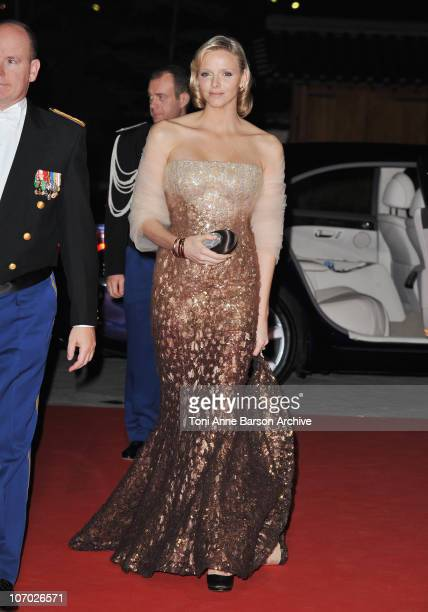 Charlene Wittstock attends the Monaco National day Gala concert at Grimaldi forum on November 19, 2010 in Monaco, Monaco.