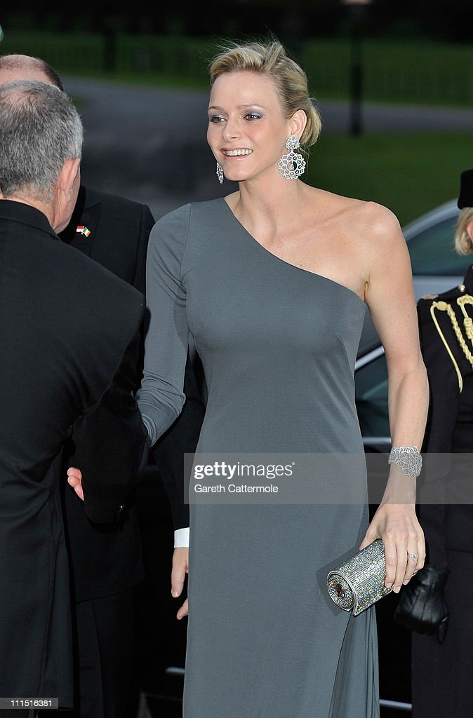 Charlene Wittstock, fiancee to His Serene Highness, Prince Albert II Of Monaco, attends a State Dinner at Aras an Uachtarain, the official residence of the President of Ireland during a State visit on April 4, 2011 in Dublin, Ireland.