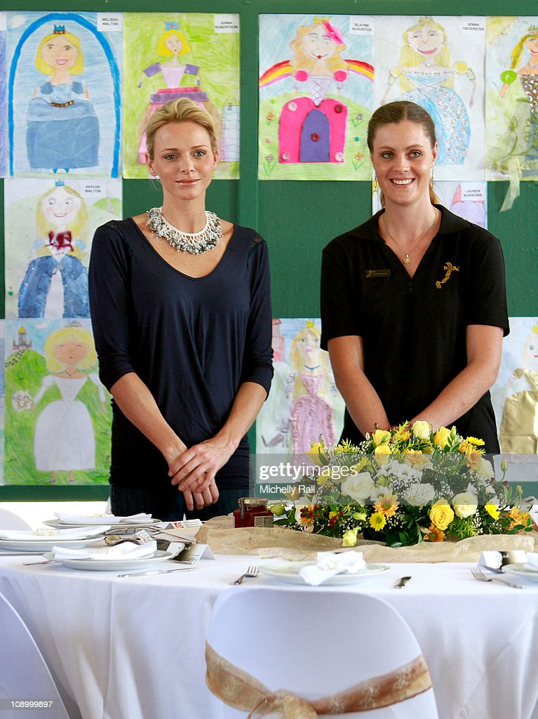 Charlene Wittstock, future Princess of Monaco (L), attends a charity breakfast to raise funds for the Special Olympics at St John's Diocesan School on February 11, 2011 in Pietermaritzburg, South Africa.
