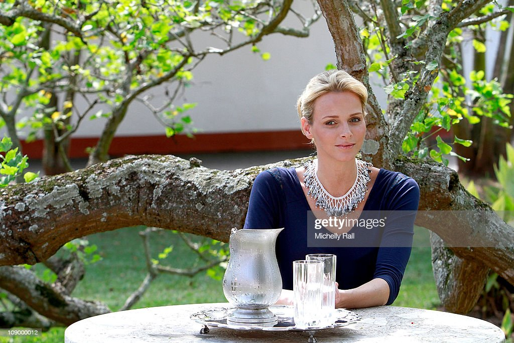 Charlene Wittstock, future Princess of Monaco, attends a charity breakfast to raise funds for the Special Olympics at St John's Diocesan School on February 11, 2011 in Pietermaritzburg, South Africa.