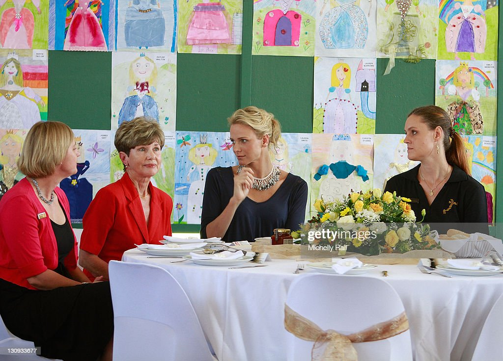 Charlene Wittstock, future Princess of Monaco (2nd R), attends a charity breakfast to raise funds for the Special Olympics at St John's Diocesan School on February 11, 2011 in Pietermaritzburg, South Africa.