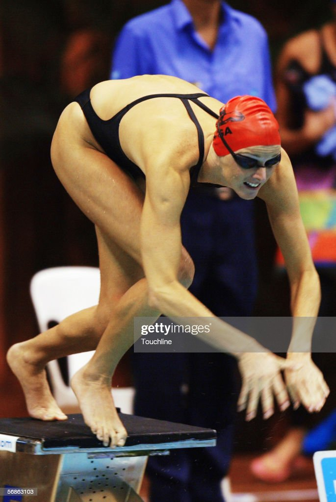 Charlene Wittstock of South Africa in action during the South African National Swimming Championships at Kings Park Aquatic Center on April 16, 2004 in Durban, South Africa.