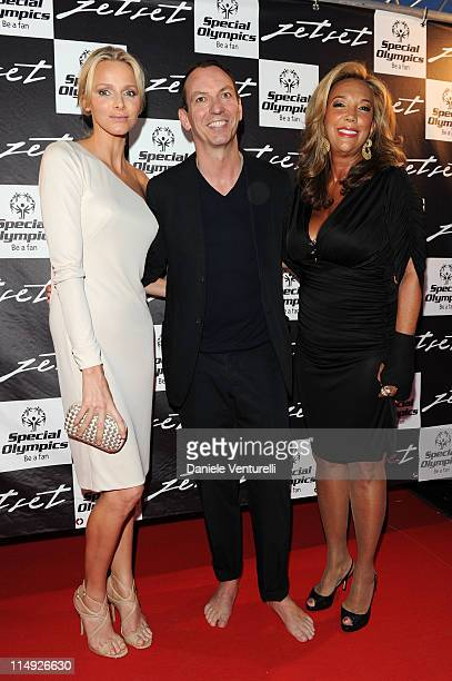 Charlene Wittstock Peter Kappler and Denise Rich attend the JetSet Party At The F1 Grand Prix of Monaco on May 28 2011 in Monaco Monaco