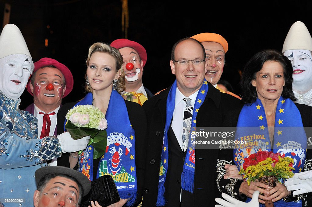 Charlene Wittstock, Prince Albert II of Monaco and Princess Stephanie of Monaco attend the Gala Ceremony of the Monte-Carlo 35th International Circus Festival 2011.