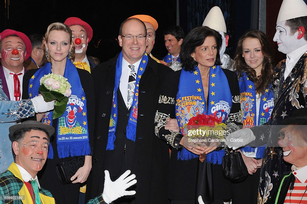 Charlene Wittstock, Prince Albert II of Monaco, Princess Stephanie of Monaco and Pauline Ducruet attend the Gala Ceremony of the Monte-Carlo 35th International Circus Festival 2011.