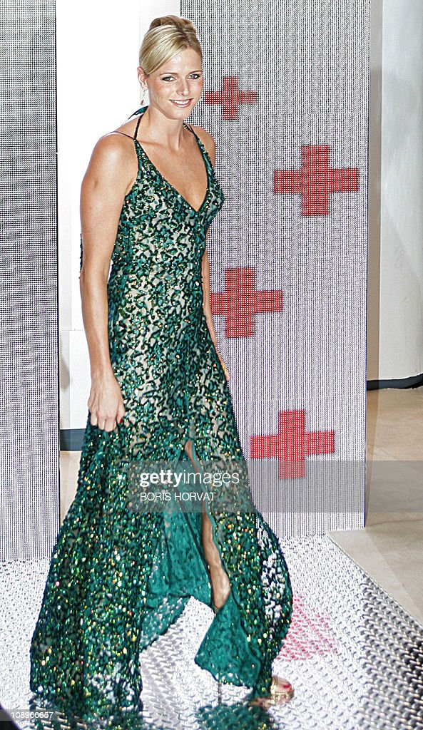 Charlene Wittstock, South Africain olympic swimming champion arrives 04 August 2006, to the yearly Red Cross Gala held in Monaco.
