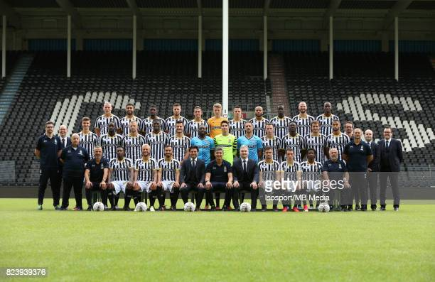 20170715 Charleroi Belgium / Photoshoot Sporting Charleroi 2017 2018 / 'n'nBack row Florent STEVANCE Kaveh REAZAEI Clinton MATA Steeven WILLEMS...