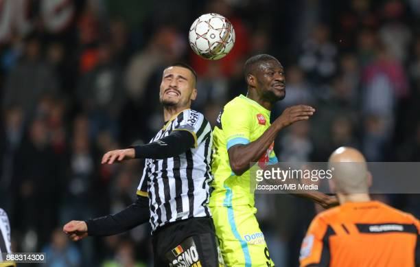 20171027 Charleroi Belgium / Sporting Charleroi v Kaa Gent / 'nJason DEMETRIOU Mamadou SYLLA'nFootball Jupiler Pro League 2017 2018 Matchday 13 /...