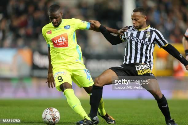 20171027 Charleroi Belgium / Sporting Charleroi v Kaa Gent / 'nMamadou SYLLA Marco ILAIMAHARITRA'nFootball Jupiler Pro League 2017 2018 Matchday 13 /...
