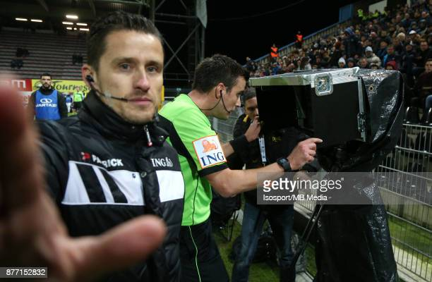 20171117 Charleroi Belgium / Sporting Charleroi v Kv Mechelen / 'nErik LAMBRECHTS Video assistant referee VAR'nFootball Jupiler Pro League 2017 2018...