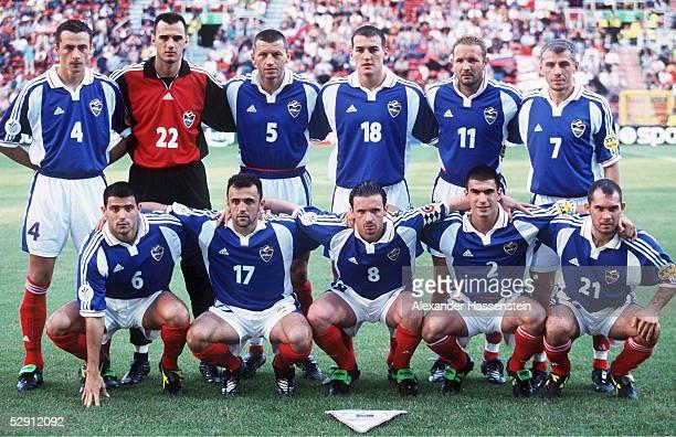 EURO 2000 Charleroi JUGOSLAWIEN SLOWENIEM 33 hintere Reihe vlnr Slavisa JOKANOVIC Ivica KRALJ Miroslav DJUKIC Darko KOVACEVIC Sinisa MIHAJLOVIC...