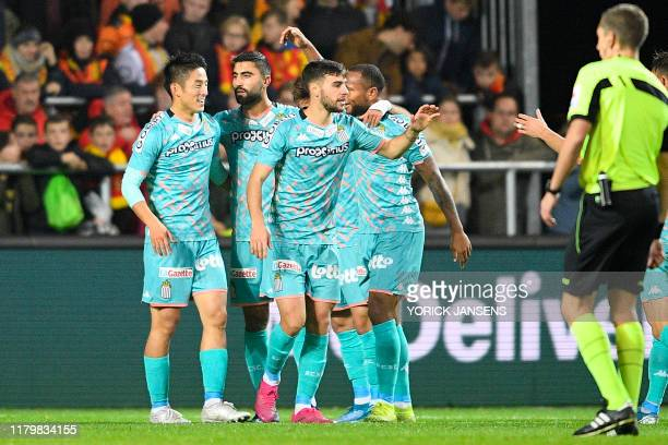 Charleroi's Kaveh Rezaei celebrates after scoring during a soccer match between KV Mechelen and Sporting Charleroi, Sunday 03 November 2019 in...