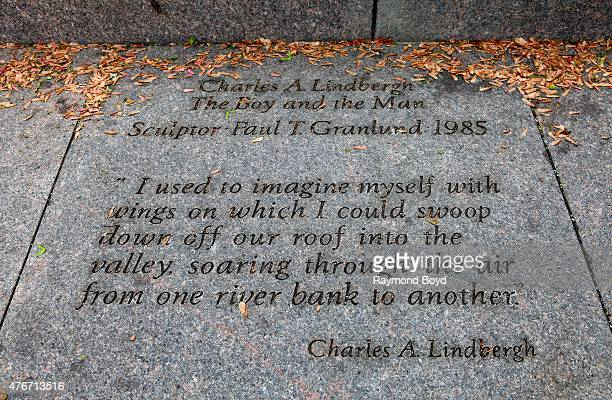 Charles A. Lindbergh quote at the Charles A. Lindbergh Memorial on May 24, 2015 in St. Paul, Minnesota.