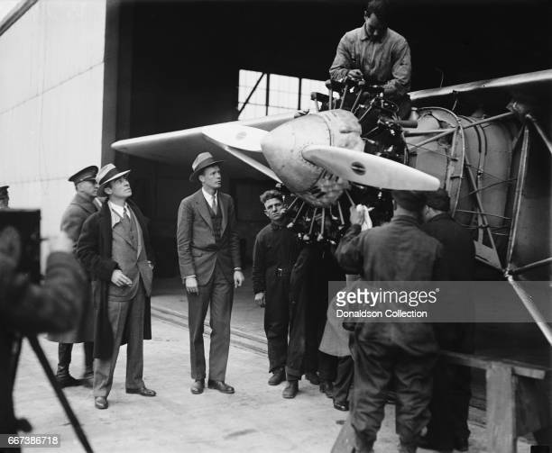 Charles A. Lindbergh, with Spirit of St. Louis in 1927.