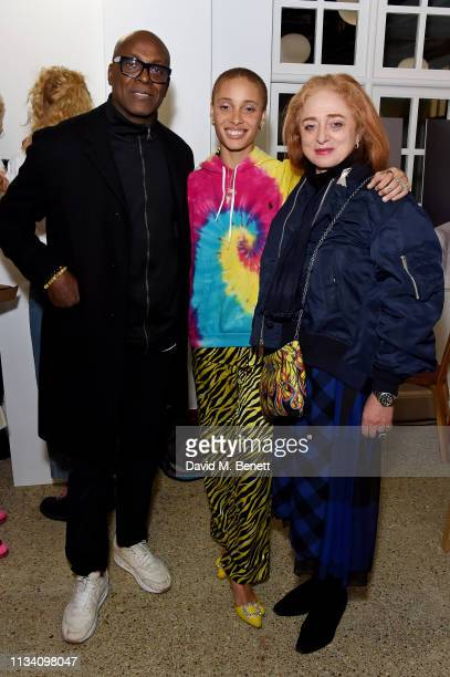 Charles Aboah Adwoa Aboah and Camilla Lowther attend the Gurls Talk x Barbie event hosted by Adwoa Aboah celebrating their collaboration at Dover...