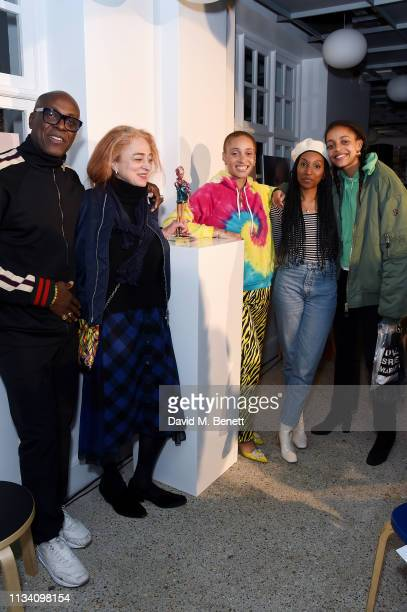 Charles Aboah Camilla Lowther Adwoa Aboah Obenewa Aboah and Kesewa Aboah attend the Gurls Talk x Barbie event hosted by Adwoa Aboah celebrating their...