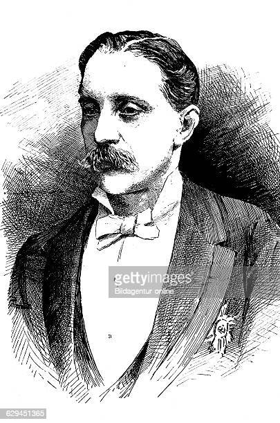 Charles alexandre louis graux 1837 1910 a belgian liberal politician and university professor historic wood engraving about 1888