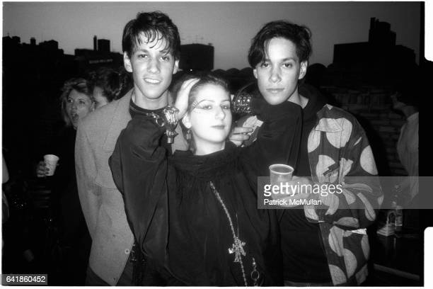 Charles and Allen Rosenberg and Miriam Bendahan at a 'Roof Top' party on 2nd Avenue in the East Village Friday June 13 1986