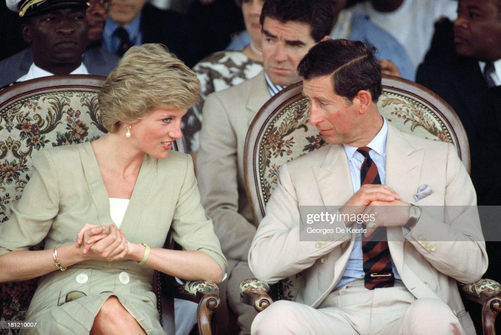Charles And Diana In Cameroon : News Photo