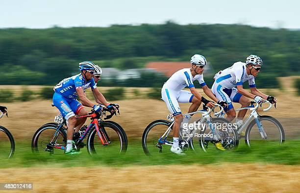 Charles and HENTTALA Joonas of Team Novo Nordisk in action during stage 2 of the 2015 Tour of Denmark a 235km stage from Ringkobing to Aarhus on...