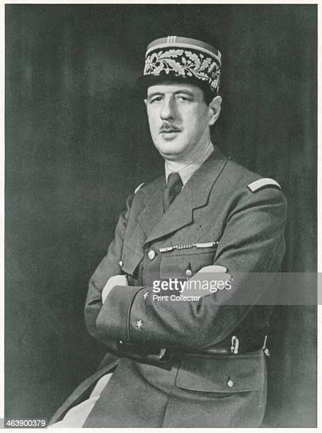 Charles Andre Joseph Marie De Gaulle 1940 De Gaulle 18901970} French soldier statesman and author in uniform as a General During WWII he was leader...