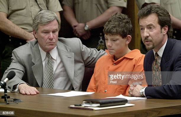 "Charles ""Andy"" Williams is arraigned before Judge Herbert J. Exarhos March 7, 2001 in San Diego County Superior Court in El Cajon, CA. Williams was..."