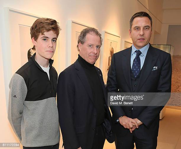 Charles Armstrong Jones Viscount David Linley and David Walliams attend 'James Bond Spectre The Auction' at Christie's King Street on February 18...