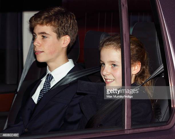 Charles ArmstrongJones and Margarita ArmstrongJones attend a Christmas lunch for members of the Royal Family hosted by Queen Elizabeth II at...