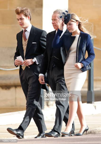Charles ArmstrongJones Viscount Linley David ArmstrongJones 2nd Earl of Snowdon and Lady Margarita ArmstrongJones attend the wedding of Princess...