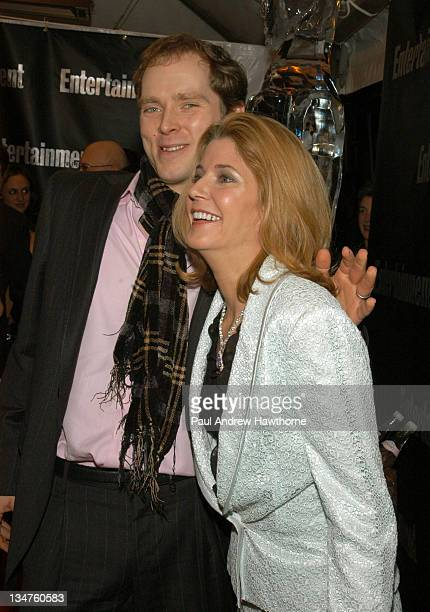Charles Askegard and Candace Bushnell attend Entertainment Weekly's party celebrating their 10th Anniversary Oscar Party with a host of celebrities...