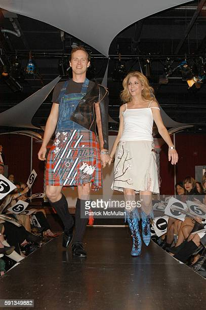 Charles Askegard and Candace Bushnell attend Third Annual Dressed To Kilt at Copacabana on April 6 2005 in New York City