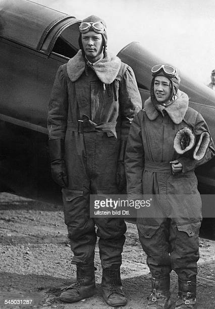 Charles August Lindbergh, American pilot, with his wife - 1932
