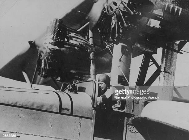 Charles Augustus Lindbergh , American aviator, engineer, and Pulitzer Prize winner, who was the first person to make a non-stop solo flight across...
