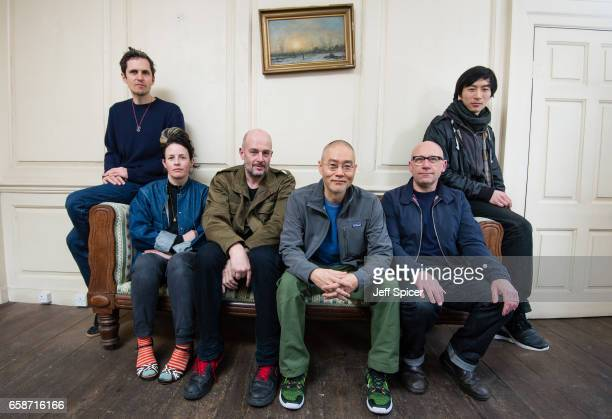 Charles Avery Anne Hardy Jake Chapman Do Ho Suh Ian Whittlesea and Lawrence Lek at the launch of this year's Art Night Programme of internationally...