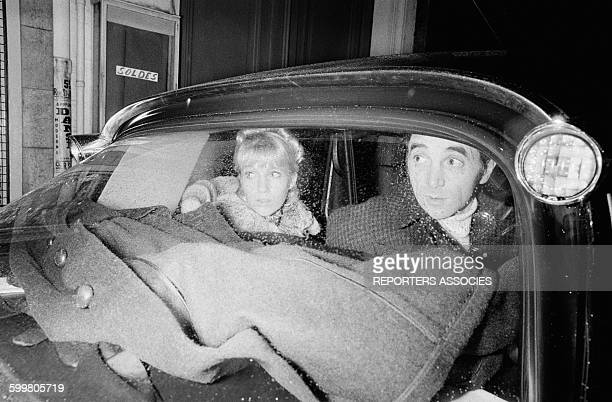 Charles Aznavour And Girlfirend Ulla Thorsell After AConcert At The Olympia Theater In Paris France On January 17 1968