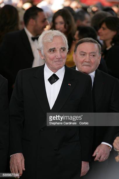 Charles Aznavour attends the premiere of Peindre ou Faire l'Amour in competition at the 58th Cannes Film Festival