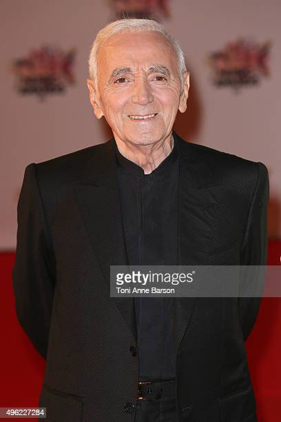 Charles Aznavour attends the17th NRJ Music Awards at Palais des Festivals on November 7 2015 in Cannes France