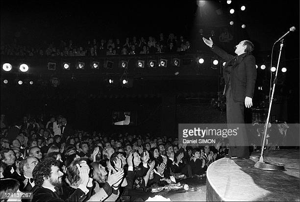 Charles Aznavour back to the Olympia In Paris France On January 27 1976 On stage