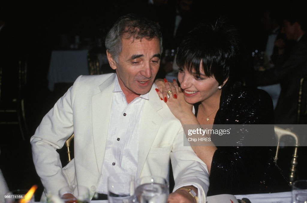 Image result for young aznavour  with liza minneli