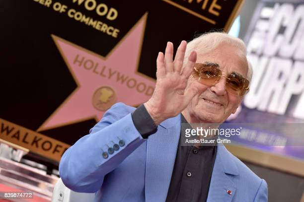 Charles Aznavour is honored with star on the Hollywood Walk of Fame on August 24 2017 in Hollywood California