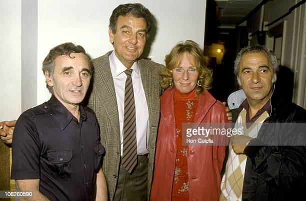 Charles Aznavour Mike Connors Mary Lou Wiley and Guest