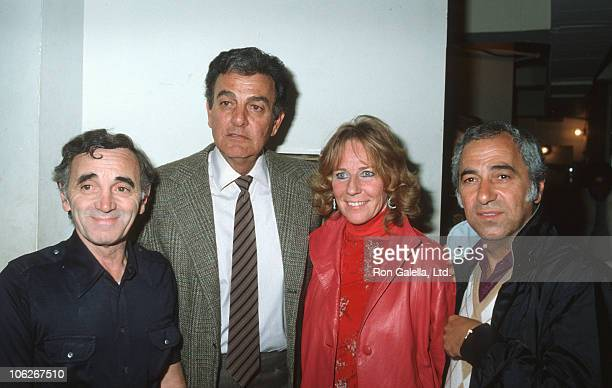 Charles Aznavour Mike Connors Marylou Connors and guest
