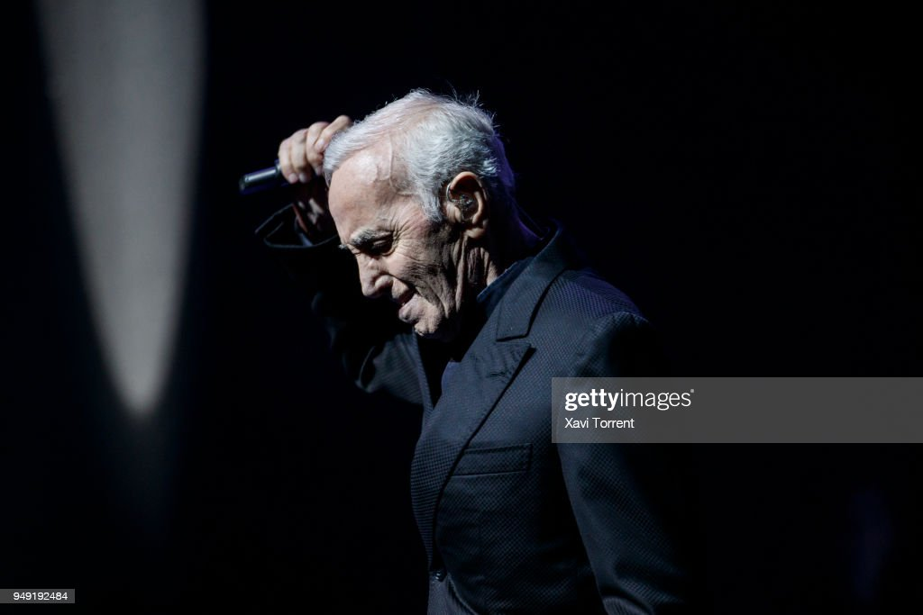 Charles Aznavour Performs in Concert in Barcelona : News Photo