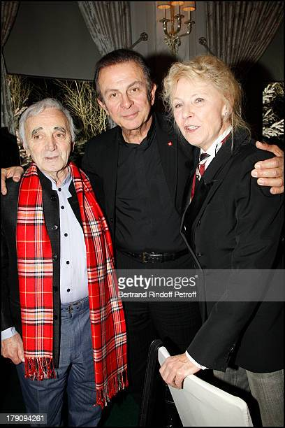 Charles Aznavour Roland Giraud and wife Maaike Jansen at Presentation Of Buche De Noel Le Notre 2010 Created By Christian Lacroix At Pre Catelan At...