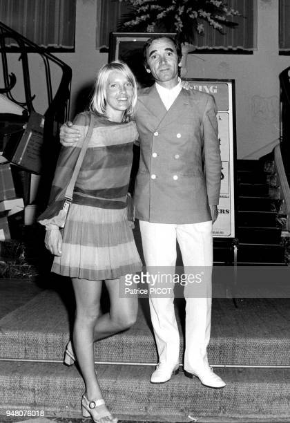 Charles Aznavour Ulla and Eddie Barclay holidays in La Napoule